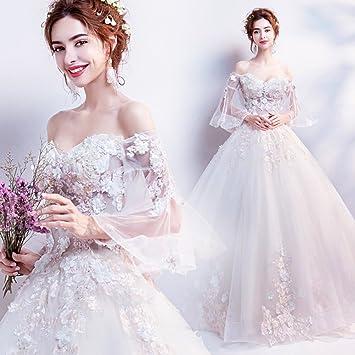 Desconocido Vestido de palabra champaña vestido de novia vestido de novia vestido de novia princesa vestido