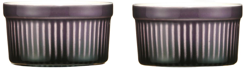 Premier Housewares OvenLove Auflaufförmchen, 9 x 5 cm, 2 Stück, violett, steingut, purpurn, 9 x 9 x 5 cm