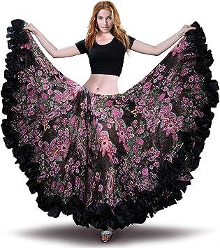 ROYAL SMEELA Falda de Gasa para Mujer Falda Maxi Full Voile Estilo ...