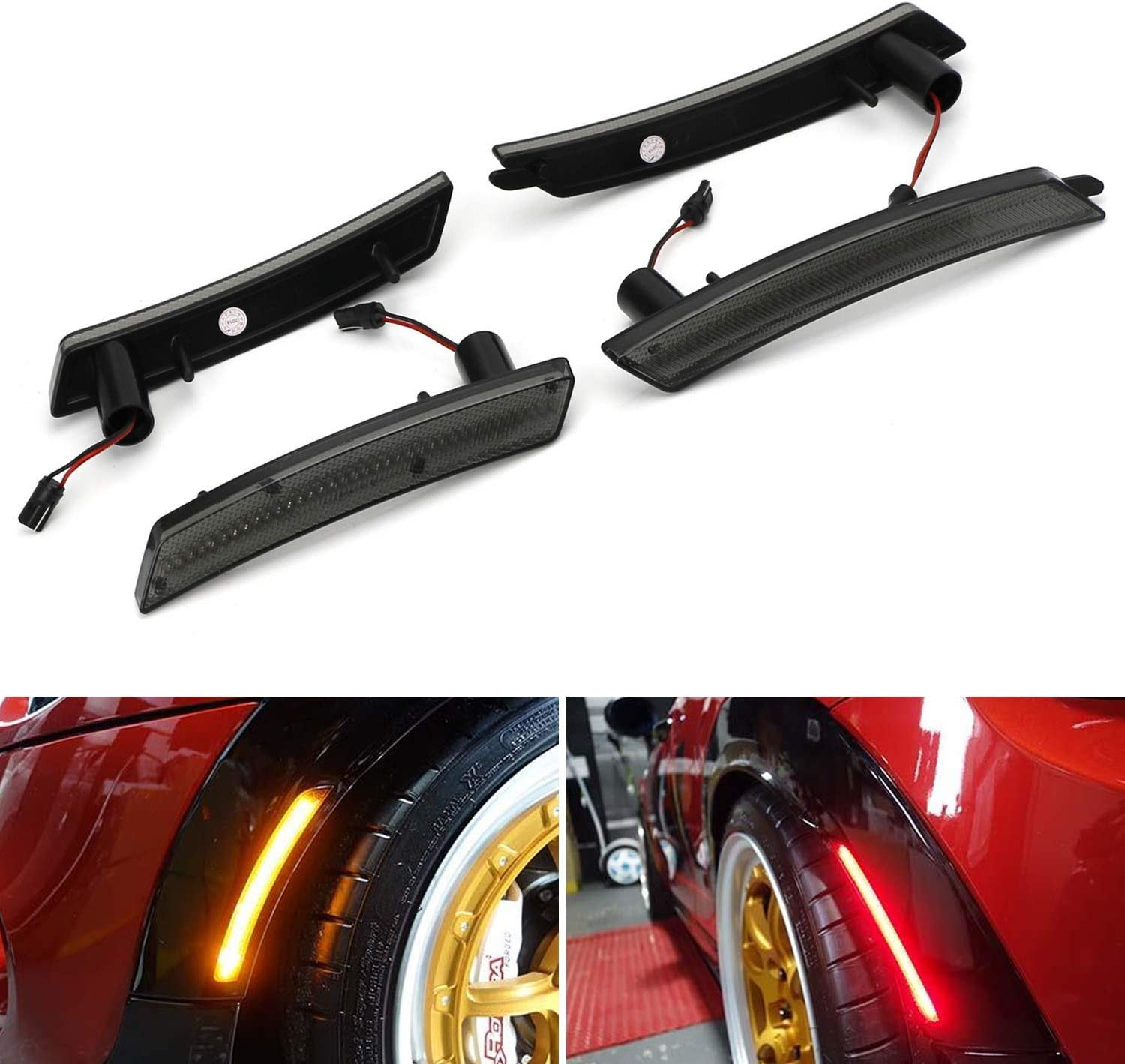 Smoke Indicator Blinkers Side Markers Turn Signal Light LED Amber For R55 R56 R57 R58 R59 Mk2 2