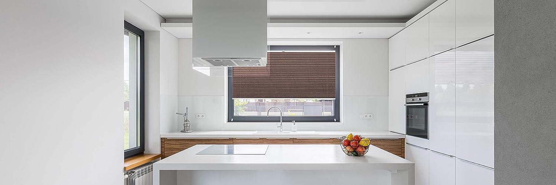 Rollo Studio Moderner Crushed Optik, Fenster Plissee Plissee Plissee auf Maß, ohne Bohren mit Neu Klemmfix Smartfix Jalousie System, Viele Größen und Farben, für alle Fenster, Fensterrollos, Weiß B07MZY39D4 Plissees 618683
