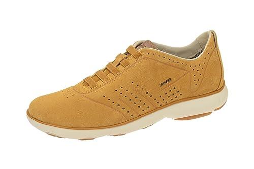 Geox U62D7C 00022C5046 - Mocasines de Piel para hombre, color Amarillo, talla 46 EU: Amazon.es: Zapatos y complementos