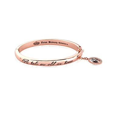 92d727803 Rose Gold Plated Beauty The Beast A Tale As Old As Time Bangle from Disney  Coutu: Amazon.co.uk: Clothing