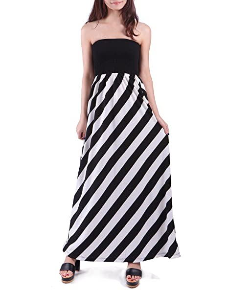 HDE Women s Maternity Dress Strapless Tube Top Pregnancy Sundress Long  Skirt at Amazon Women s Clothing store