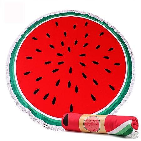 ec306b4900 paisdola Thick Beach Blanket/Beach towel Round Roundie With Fringe Tassels ( Watermelon)