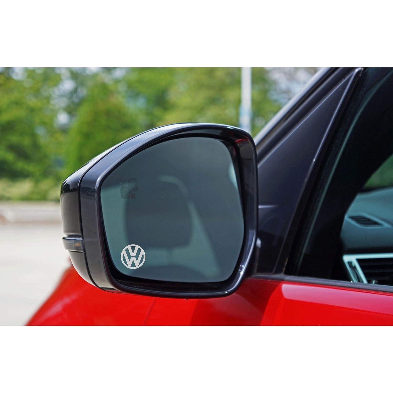 Autodomy Pegatinas Volkswagen Logo Pack 6 Unidades en Vinilo /ácido para los Espejos del Coche.