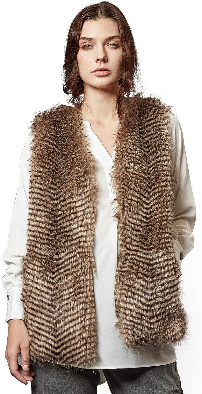 Escalier Women's Faux Fur Vest Waistcoat Sleeveless Jacket at Amazon Women's  Coats Shop