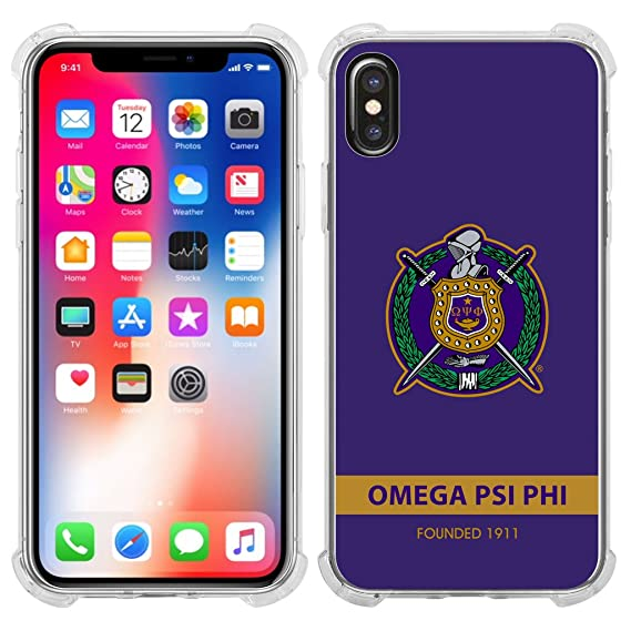 finest selection d7b5f 586e0 Amazon.com: Omega Psi Phi Fraternity New Iphone X Case Clear: Cell ...