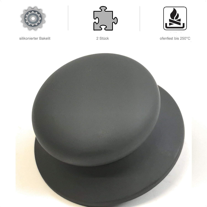 1 item Siliconised plastic. gray Kerafactum/® Lid Knob Handle Replacement Handle for Pot Lid Universal Handle Plastic Handle Diameter 7 cm Pot Lid Handle Lid Handle