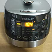 Aigostar Happy Chef 30IWY – Robot de cocina multifunción, cocina a presión: 7 aparatos en uno, 15 funciones, panel led, 900W, 5L, temporizador. Incluye libro de recetas. Libre de BPA. Diseño exclusivo: