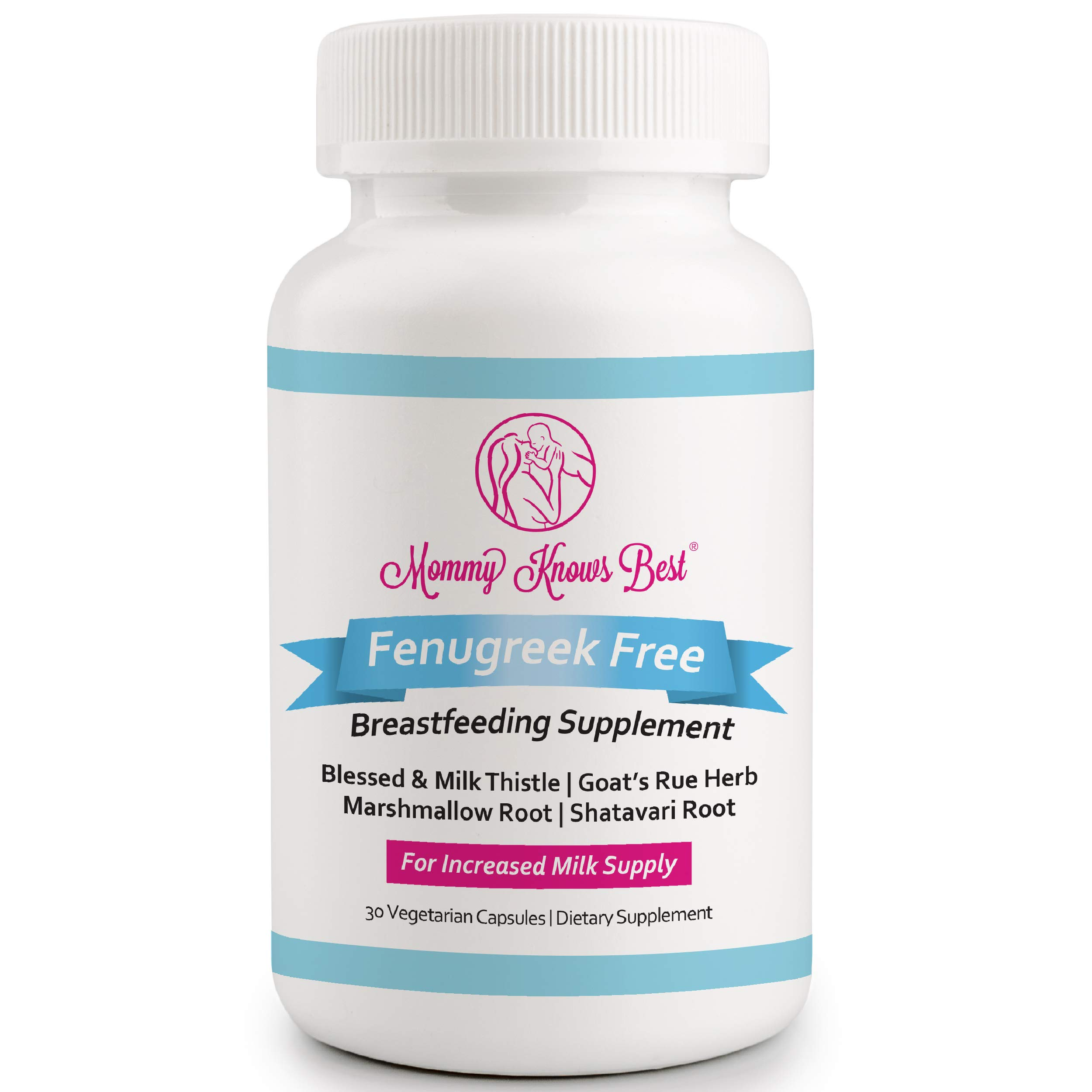 Lactation Supplement for Breastfeeding Support - Fenugreek Free - Breast Feeding Supplements for Milk Supply Increase - 30 Vegetarian Capsules Pills for Increased Breastmilk