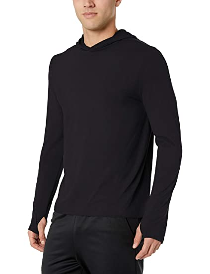 62f3ec6e88b Amazon Essentials Men's Tech Stretch Long-Sleeve Performance Pullover Hoodie