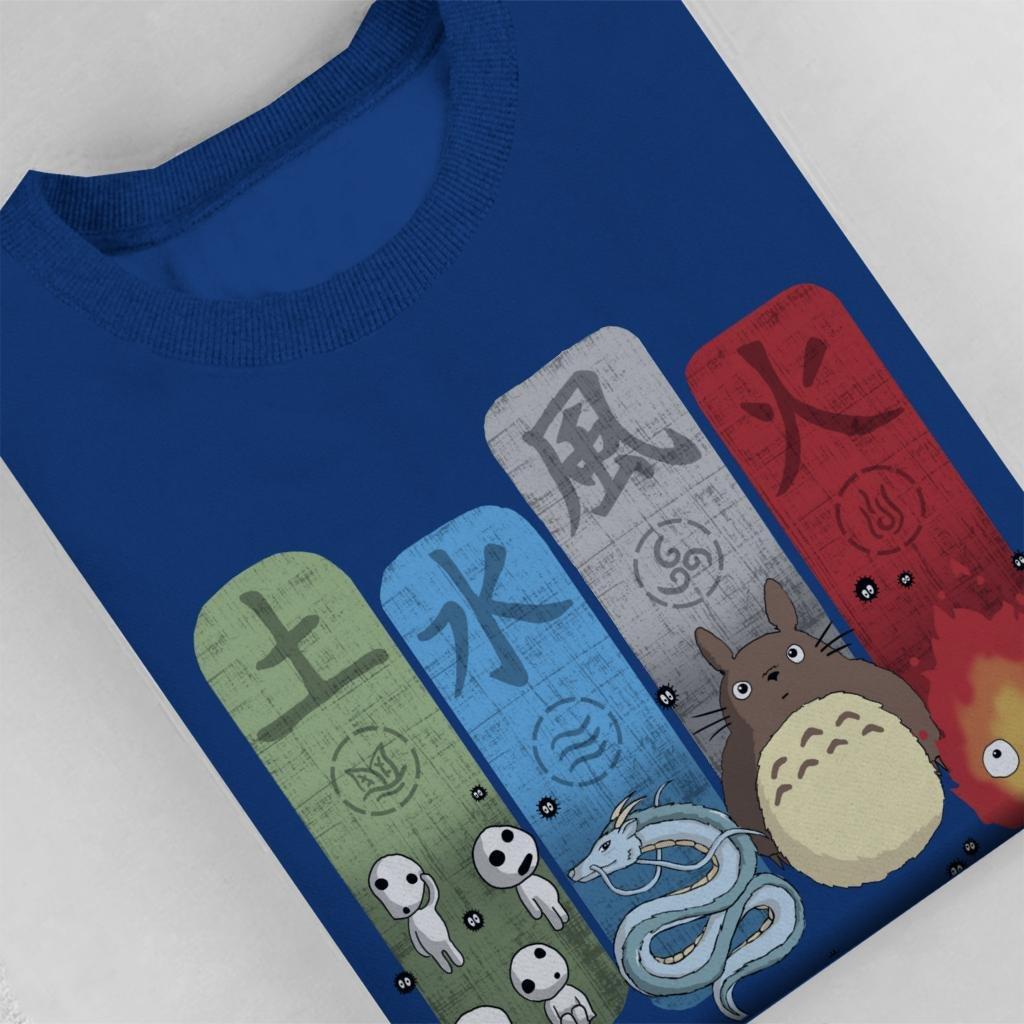 Cloud City 7 Studio Ghibli Elemental Charms Womens Sweatshirt