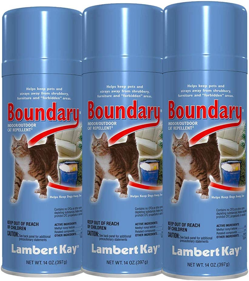 Boundary 3-Pack Lambert Kay Cat Pet Repellent Spray Indoor Outdoor Training Aid 14oz
