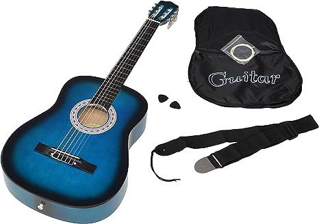 ts-ideen 5265 - Guitarra acústica clásica (incluye funda, correa ...