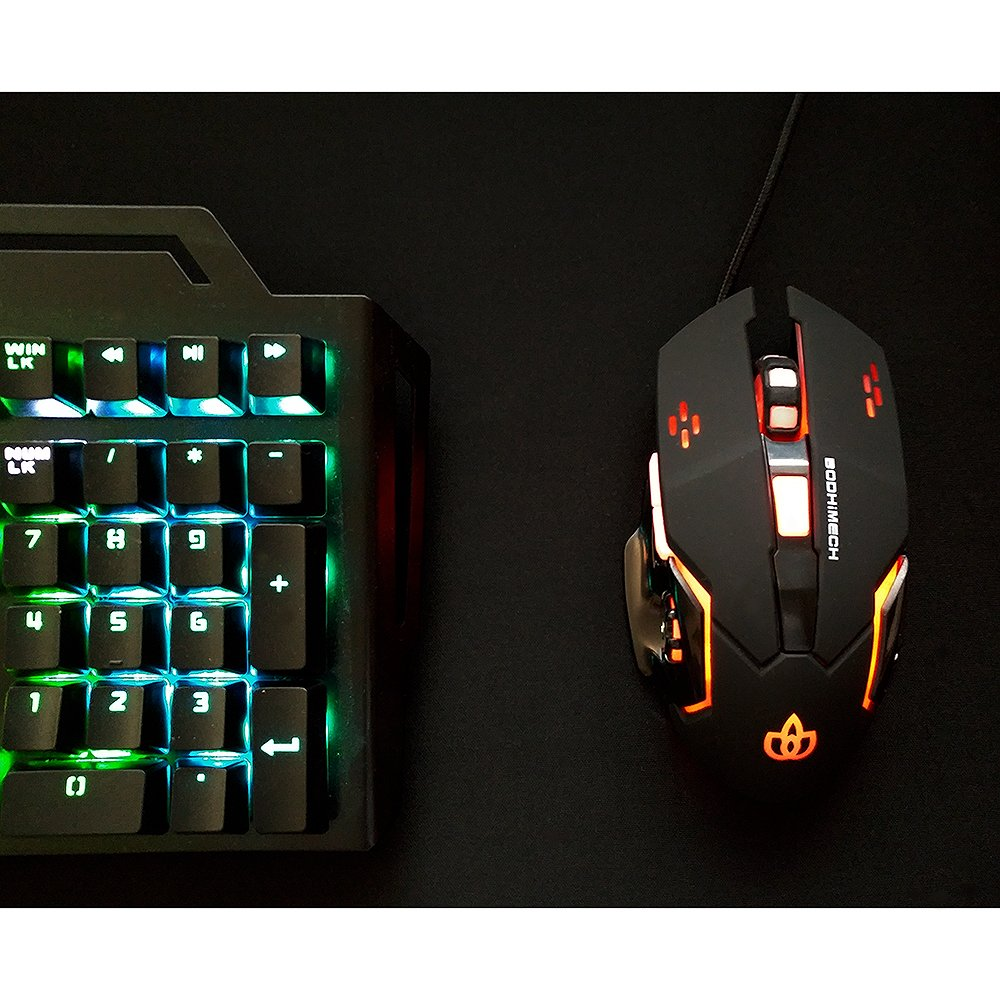 Breathing /& Programmable Led Light BODHiMECH Gaming Mouse GM-201 Wired USB Mouse for PC Gamer Computer Laptop 6 Buttons