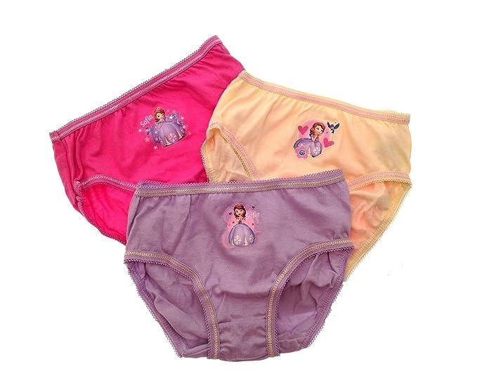 Pack braguitas infantiles, diseño Frozen de Disney, 3unidades, bragas