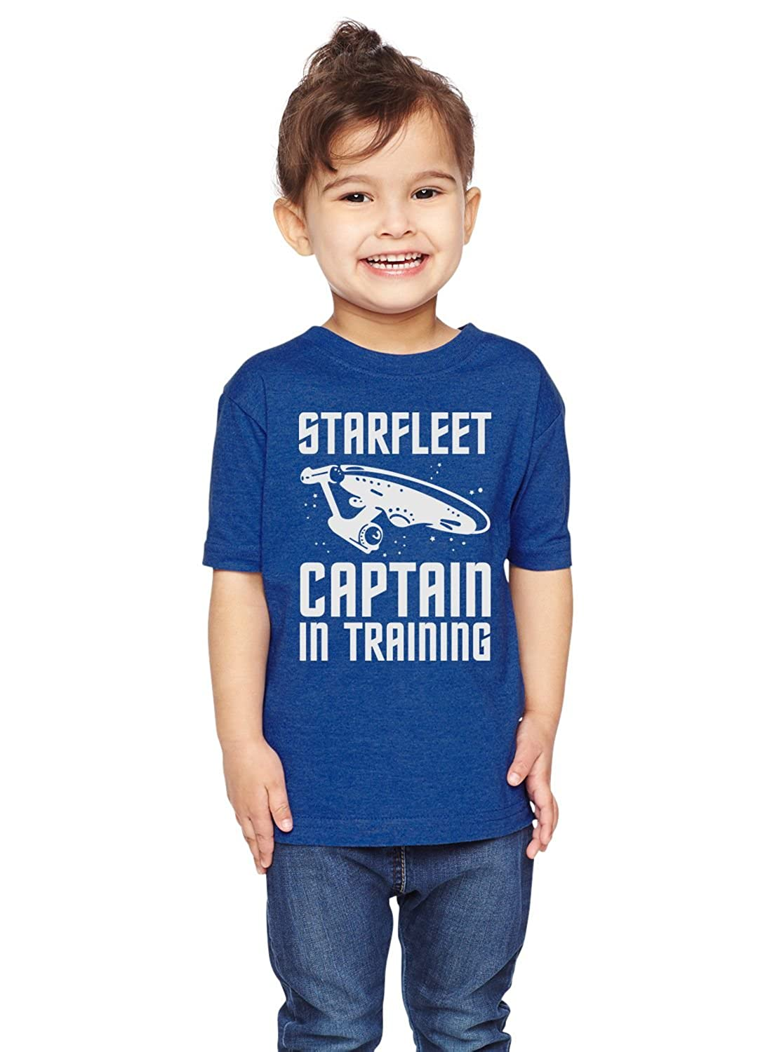 Brain Juice Tees Starfleet Captain in Training Star Trek Unisex Toddler Shirt