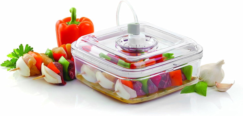 FoodSaver FSFSMA0050-060 Marinador rápido, Apto para frigorífico, 1 W, Plástico, Blanco