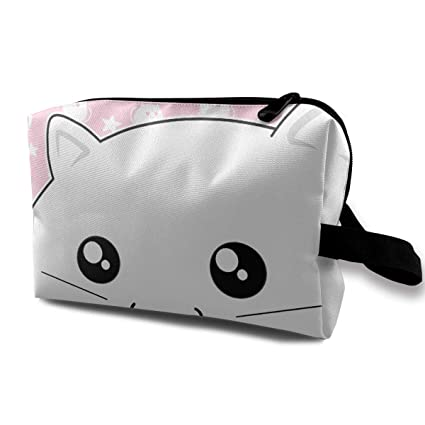 Image Unavailable. Image not available for. Color  FSXDOG Pink Cute White  Kitty Cat Novelty Versatile Students Pencil Case Pen Pouch Cosmetic Bag  Single 0db185ccb4912