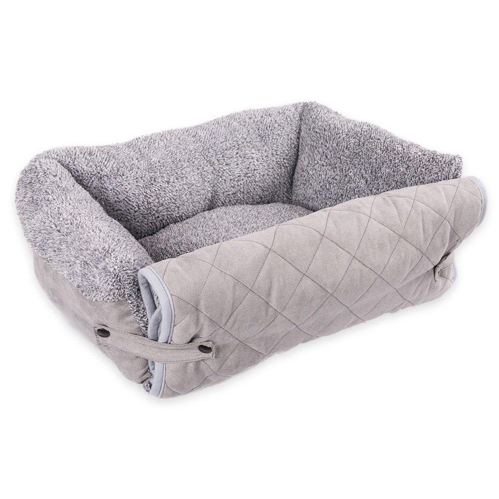 Uiophjkl Sicuro e Confortevole Cuscino per Divano Tre-in-Uno Grigio per Animali Domestici Forniture per Cani. Adatto a Cani e Gatti