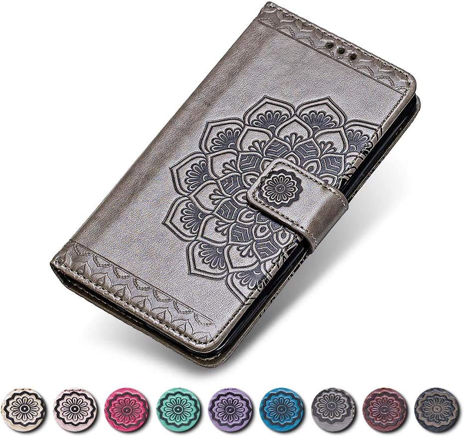 Sony Xperia Z5 Compact Flip Leather Wallet Case Notebook Style Rose Gold Flower Design Shockproof Cover for Sony Xperia Z5 Compact KKEIKO Sony Xperia Z5 Compact Case