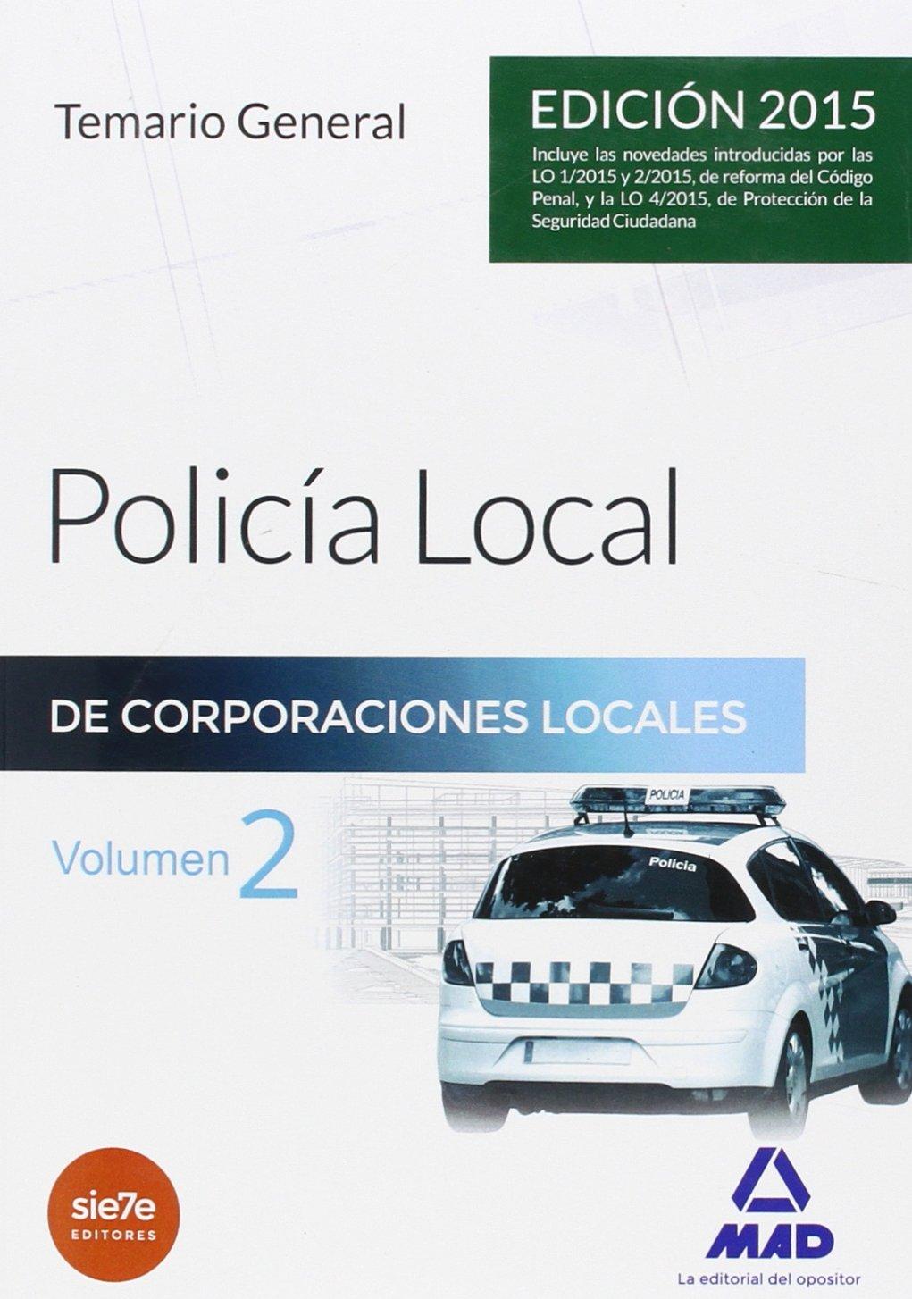 Policía Local.Temario General, volumen 2 pdf