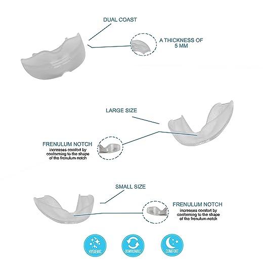 [6 en 1]Férula dental anti bruxismo - dispositivo profesional - Termosensible - nocturno - tratamiento ATM - evita el rechinar de los dientes - ...