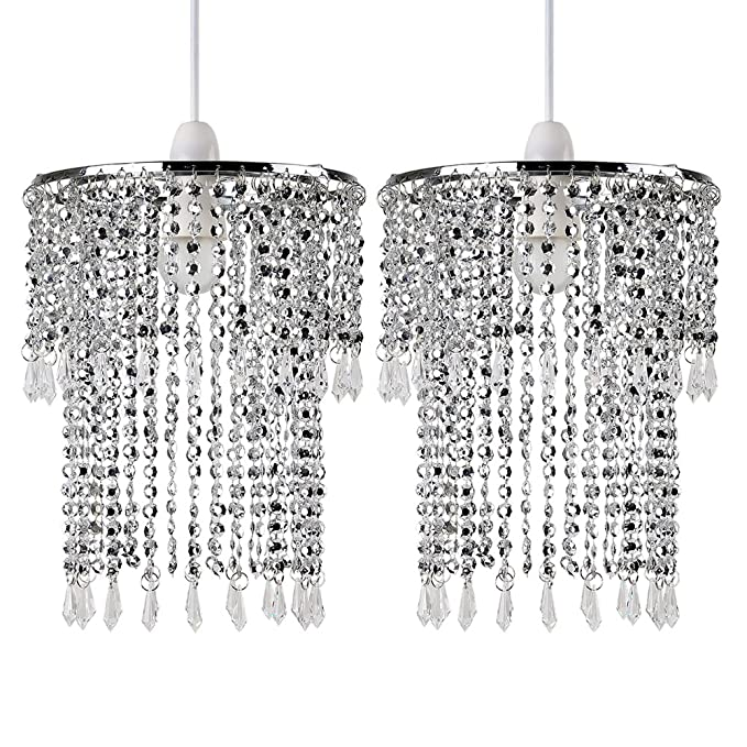 Modern Crystal Living Room Floor Lamp Gold//Silver Chrome Bedroom Landing Lights