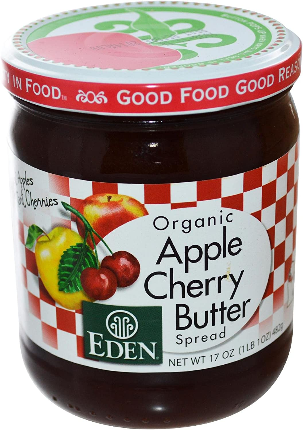 Eden Foods Organic Apple Cherry Butter Spread - 17 oz