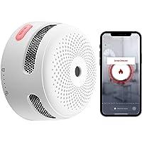 X-Sense Detector de humo inteligente con batería de litio reemplazable y botón de silencio, detector de humo WiFi…