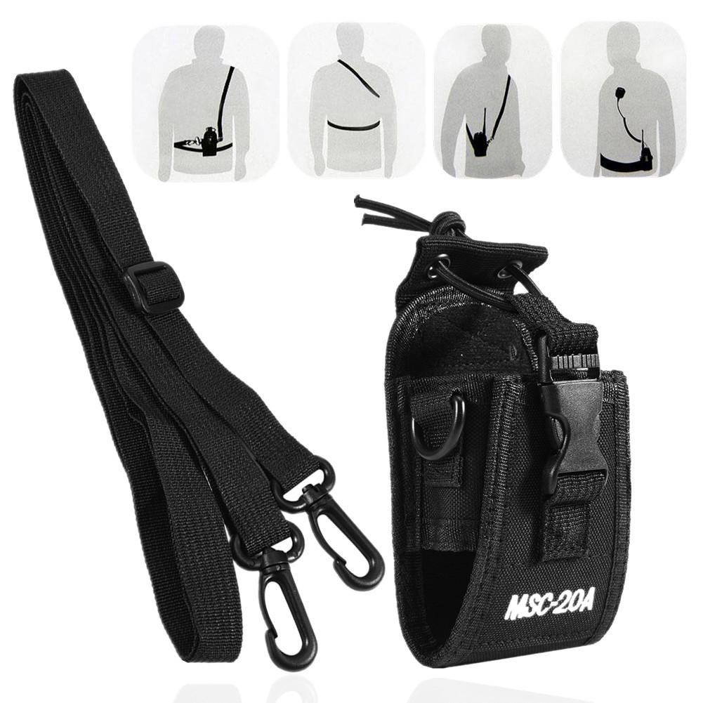 Zerone Universal Walkie Talkie Nylon Belt Case Bag with Adjustable Shoulder Strap Two Way Radio Holder Holster Case MSC-20A For Kenwood/Motorola/HYT Two-Way Radio by Zerone (Image #1)