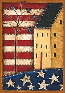 "Toland Home Garden 110557 Land of The Free 12.5 x 18 Inch Decorative, Garden Flag (12.5"" x 18"")"