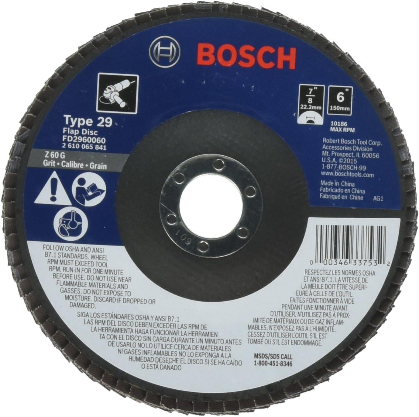 قرص فلاب من بوش، FD2960060 النوع 29 60-Grit، شاشة 6 انش، أربور، 10 قطع