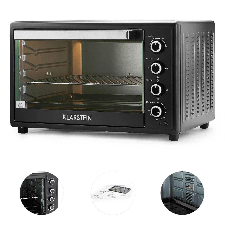Klarstein Masterchef XL • Horno eléctrico • Pincho giratorio • 100 L • 2700 W • 4 Puntos de calor • 100-230° C • Calor superior • Calor inferior • Acero ...