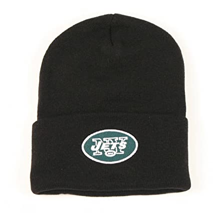 75c8d5f0d37 Image Unavailable. Image not available for. Color  New York Jets Cuffed  Classic Knit Hat ...