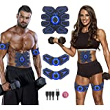 Abs Stimulator Ab Stimulator Rechargeable Ultimate Abs Stimulator for Men Women Abdominal Work Out Ads Power Fitness Abs…