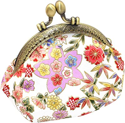 Floral Womens Clasp Small Wallet Coin Purse Clutch Holder Pouch Mini Hand Bags