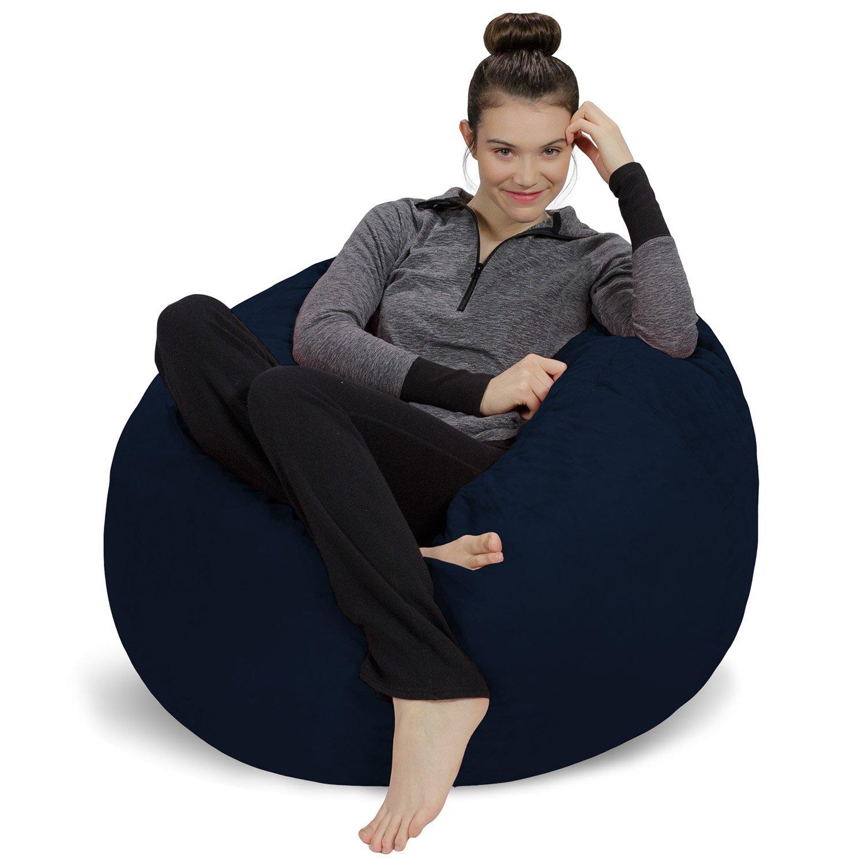 Sofa Sack-Bean BagsBean Bag Chair, 3', Charcoal 3' Sofa Sack - Bean Bags AMZBB-3SK-CS03
