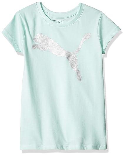 c334d46c13f Amazon.com: PUMA Big Girls' Cat Logo T-Shirt: Clothing