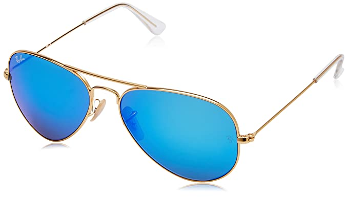 f9ab2d6d87b Image Unavailable. Image not available for. Colour  Ray-Ban Mirrored Aviator  Men s Sunglasses ...