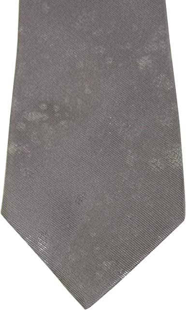 Bottega Veneta Mens Grey//Metallic Silk Tie 298553 1581