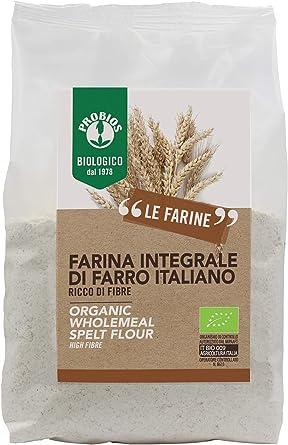 Probios Harina Integral Biológica de Farro - Paquete de 6 x 500 gr ...