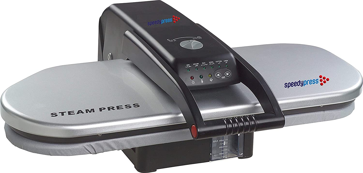 Silver Steam Ironing Press 64cm with Stand by Speedypress