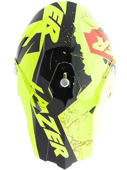 Casco Mx Lazer X8 Whip Amarillo Fluo-Negro-Rojo (Xl , Amarillo): Amazon.es: Deportes y aire libre