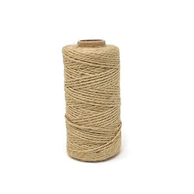Honbay 2mm 328 Feet Natural Jute Twine Packaging Twine Decorative Twine for Arts & Crafts, Gardening Applications, Gift Wrapping, etc : Office Products