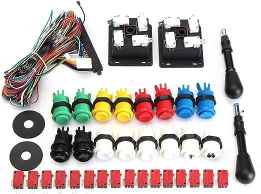 GOZAR 60 En 1 Kit con 2 Joysticks 4/8 Manera 16 Happ Pulsadores ...