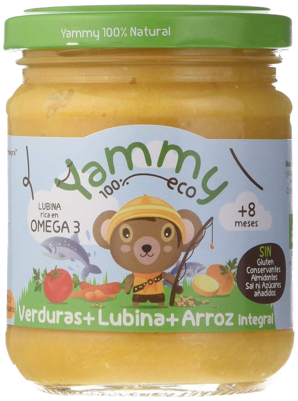 Yammy, Potito Ecológico de Pescado (Verduras, Lubina y Arroz Integral) - 12 de 195 gr. (Total 2340 gr.): Amazon.es: Alimentación y bebidas