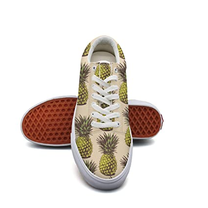 4c370743b2dd9 Pineapple Plant Women Canvas Shoes Oldskoo Skateboard Shoes Low Top