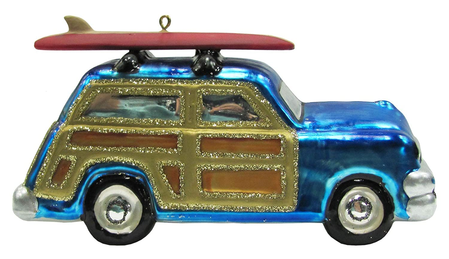 Surfboard on Blue Woody